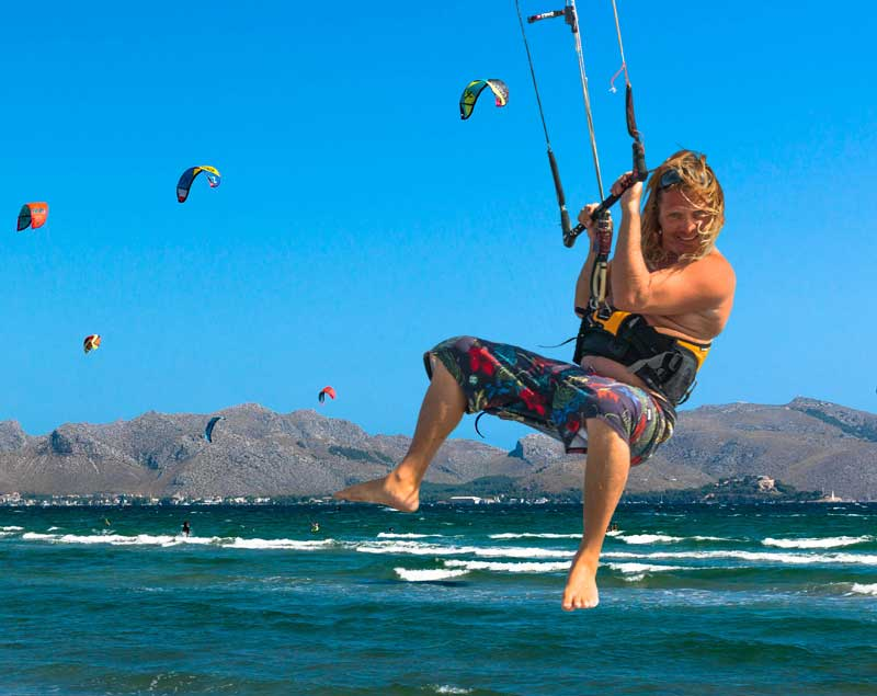 Kite-surfing courseson Mallorca